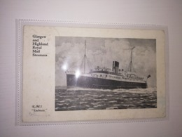 England 1936 Circulated Postcard - Passenger Ships - Royal Mail Steamers - RMS Lochearn - Bateaux