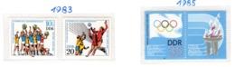 SPORT - OLYMPIC GAMES - 1983 - GERMANIA DEMOCRATICA -  Mi. Nr. 2814/2815+ 2949 - NH - (6532-56) - Nuovi