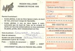 PERMIS De PÊCHE De 1995 , De 1500 Fr D' EGHEZEE  Avec Nr 2356 . - Otros
