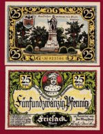 Allemagne 1 Notgeld De 25 Pfenning  Stadt Friesack (RARE)   Dans L 'état N° 4880 - [ 3] 1918-1933 : Repubblica  Di Weimar