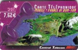 Carte Prépayée - CENTRAL TELECOM - 50 F 6.62 € - Andere Voorafbetaalde Kaarten