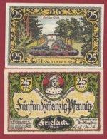 Allemagne 1 Notgeld De 25 Pfenning  Stadt Friesack (RARE)   Dans L 'état N° 4881 - [ 3] 1918-1933 : República De Weimar