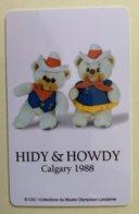 9043 - Hidy & Howdy Mascottes Jeux Olympiques Calgary 1988 Carte Entrée Musée Olympique Lausanne - Autres Collections