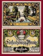Allemagne 1 Notgeld De 25 Pfenning  Stadt Friesack (RARE)   Dans L 'état N° 4882 - [ 3] 1918-1933 : República De Weimar