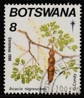 Botswana 1990 Christmas - Flowering Trees 8 T Multicoloured SW 482 O Used - Botswana (1966-...)