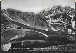 ABRUZZO - GRAN SASSO D'ITALIA - CAMPO IMPERATORE - VIAGGIATA 1953 FRANCOBOLLO ASPORTATO - Italy