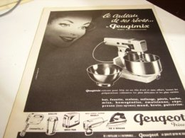 ANCIENNE  PUBLICITE CADEAU DE SES REVES PEUGEOT FRERE 1960 - Unclassified