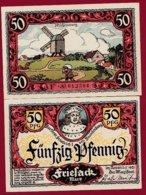 Allemagne 1 Notgeld De 50 Pfenning  Stadt Friesack (RARE)   Dans L 'état N° 4884 - [ 3] 1918-1933 : República De Weimar