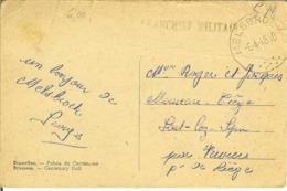 """CP De BRUXELLES / BRUSSELS """" Avec Cachet FRANCHISE MILITAIRE De MELSBROEK """" - Postmark Collection"""