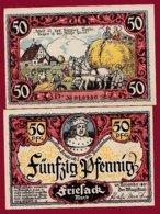 Allemagne 1 Notgeld De 50 Pfenning  Stadt Friesack (RARE)   Dans L 'état N° 4885 - [ 3] 1918-1933 : Repubblica  Di Weimar