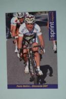CYCLISME: CYCLISTE : PAOLO BETTINI - Cyclisme