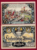 Allemagne 1 Notgeld De 75 Pfenning  Stadt Friesack (RARE)   Dans L 'état N° 4886 - [ 3] 1918-1933 : Repubblica  Di Weimar