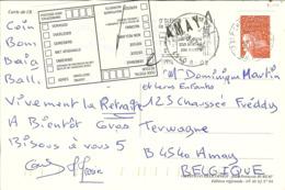 """CP De L'ILE D'OLERON """" Avec Griffe D'AMAY 1 """" 2002 - Sello Lineal"""