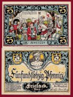 Allemagne 1 Notgeld De 75 Pfenning  Stadt Friesack (RARE)   Dans L 'état N° 4888 - [ 3] 1918-1933 : Repubblica  Di Weimar
