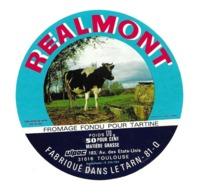 ETIQUETTE De FROMAGE..FROMAGE FONDU Pour TARTINES Fabriqué Dans Le TARN (81)..REALMONT - Cheese