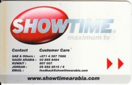 U.A.E.(chip) - Showtime Arabia, Satellite TV Card, Used - Andere Sammlungen