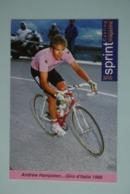 CYCLISME: CYCLISTE : ANDREW HAMPSTEN - Cyclisme