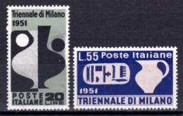 Italia Repubblica 1951 IX Triennale Di Milano Nuovi Integri - 6. 1946-.. Republic
