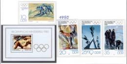SPORT - OLYMPIC GAMES - 1980 - GERMANIA DEMOCRATICA -  Mi. Nr. 2478/2481+BF57 - NH - (6532-57) - Nuovi