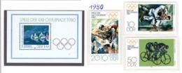 SPORT - OLYMPIC GAMES - 1980 - GERMANIA DEMOCRATICA -  Mi. Nr. 2528/2530+BF60 - NH - (6532-57) - Nuovi
