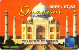Carte Prépayée - GNANAM - TELECOM CENTER - 7.62  € - France