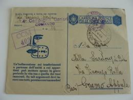 1945 CAPITANO GENIERI  A GRUMO APPULA   CARTOLINA POSTALE  PER LE FORZE ARMATE  POSTA MILITARE        COME DA FOTO - Guerra 1939-45