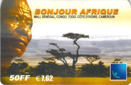 Carte Prépayée - BONJOUR AFRIQUE- 50 FF  7.62  € - Frankrijk