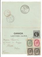 IC QV Letter Card Uprated. Sydney 20.9.1900>Londen G.B.>France Alixan - Briefe U. Dokumente
