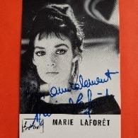 Carte Dédicacée:marie Laforêt - Singers & Musicians