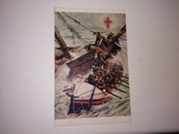 England Used Postcard - Ships - Life Boat Service Is Red Cross Of The Sea - Bateaux