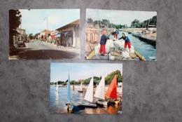 Andernos Les Bains 33510 Trois CP Moderrnes Couleur 150CP03 - Andernos-les-Bains