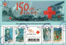 France Oblitération Cachet à Date BF N° F 4910 - Les 150 Ans De La Croix-Rouge - Sheetlets