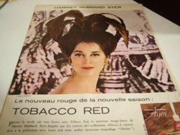 ANCIENNE PUBLICITE SUR VOS LEVRES HARRIET HUBBARD AYER 1960 - Parfum & Cosmetica