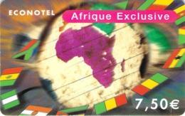 Carte Prépayée - ECONOTEL - AFRIQUE EXCUSIVE - 7.5 € - Francia