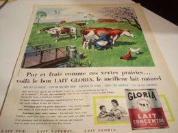 ANCIENNE  PUBLICITE  LAIT CONCENTRE GLORIA 1960 - Posters