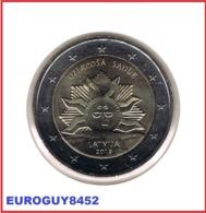LETLAND - 2 € COM. 2019 UNC - ZONSOPGANG - Letland