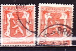 Belgien Belgium Belgique - Staatswappen (OBP: 419 + 419b) 1936 - Gest Used Obl - 1977-1985 Figuras De Leones