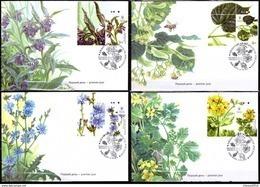 2017 Ukraine Set FDC FD Cover Medical Mellifluous Flora Flower Plants #380 - Ukraine