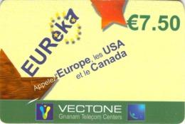 Carte Prépayée - EUREKA - VECTONE -  7.5 € - Frankrijk