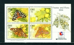 IRELAND  -  1994  Moths  Miniature Sheet  Unmounted/Never Hinged Mint - 1949-... Republic Of Ireland