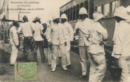 Cotonou Gare . Passage Du Dupleix . Arrivée Des Officiers  . Train . Gare . 1907 Vers Saint Pierre Eglise . Truffert - Dahomey