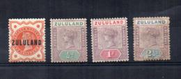 Gran Bretagna - (Vecchie Colonie E Protettorati - ZULULAND) - 1888/1894 - Nuovi - 1 Usato - Linguellati * - (FDC17732) - Zululand (1888-1902)