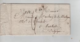 PR7487/ Précurseur De Condé (57) Rasez&Lebon Droit De Douane S/La Houille 1825  Port 6 > Kerkove(Avelgem) - 1801-1848: Precursores XIX