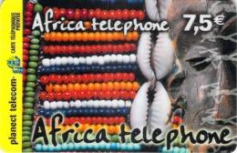 Carte Prépayée - AFRICA TELEPHONE - PLANECT TELECOM -  50 F - France