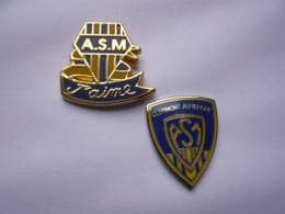 Rare 2 Pin S RUGBY A S M Dont 1 Decat Different A Voir Tbq - Rugby