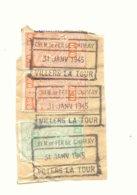 D834A-België  CHEM. DE FER  DE CHIMAY  Stempel VILLERS LA TOUR Op Fragment - Chemins De Fer