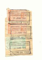 D834A-België  CHEM. DE FER  DE CHIMAY  Stempel VILLERS LA TOUR Op Fragment - Ferrocarril