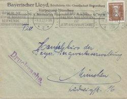 Deutsches Reich BAYERISCHER LLOYD Schiffarhrt Slogan 'Fremde Notlindern Jedermann's Pflicht' MÜNCHEN 1927 Brief Goethe - Deutschland
