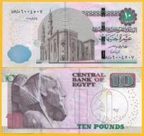 Egypt 10 Pounds P-73 2018 (Date 14.8.2018) UNC Banknote - Egypte