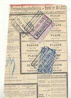 D835A-België  CHEM. DE FER  DE CHIMAY  Stempel MOMIGNIES Op Fragment - Ferrocarril